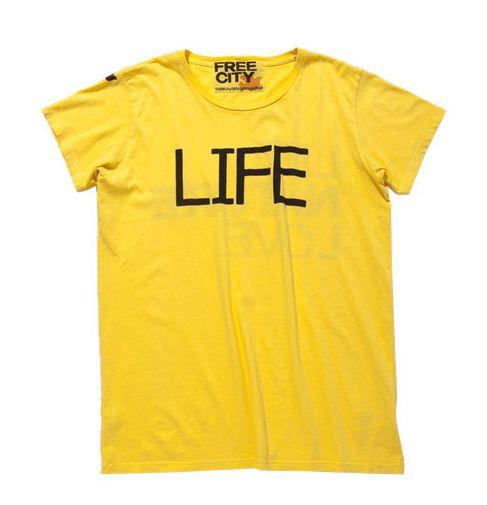 B'z会報102号で稲葉さんが着てた「LIFE」と書かれたTシャツはFREECITY!?
