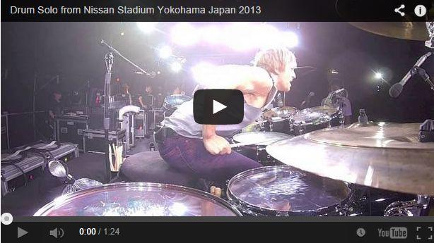 B'zのライブのシェーン・ガラース!ドラムソロ動画まとめ!!