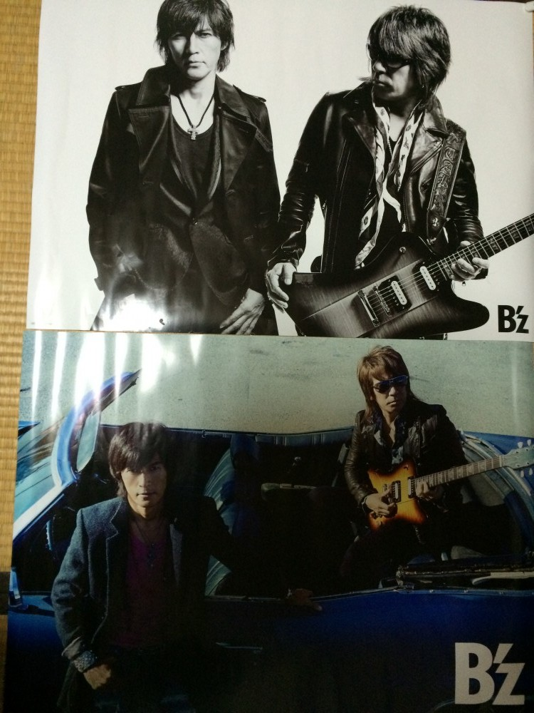 B'z「有頂天」先着特典、オリジナルB2ポスター2種ゲット!【画像あり】