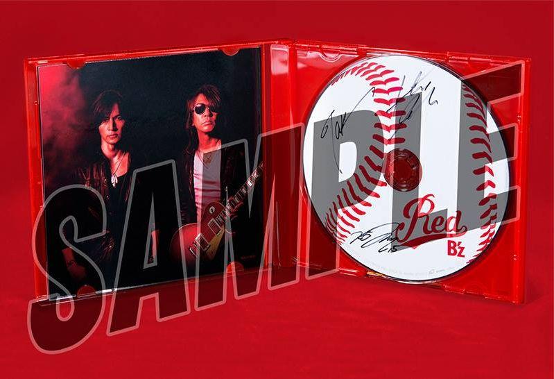 B'z「RED」赤盤に稲葉、松本、黒田サイン入りCDがランダムに100枚封入!キタ\(^o^)/
