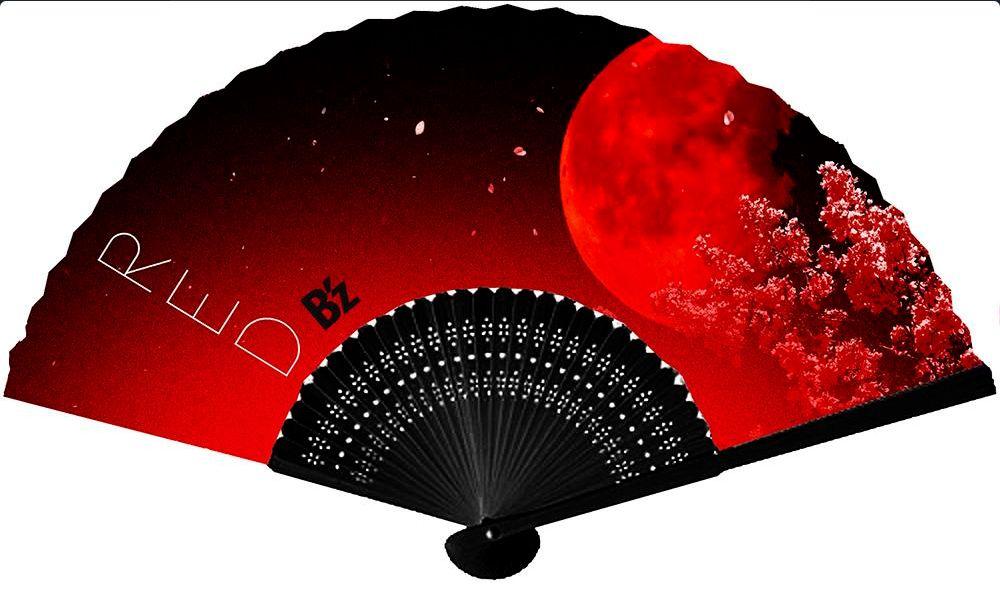 B'z「RED」扇子の全貌が明らかに!!ラジオでプレゼントされてます!