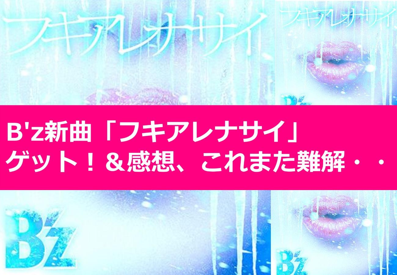 B'z新曲「フキアレナサイ」ゲット!&感想、これまた難解・・・